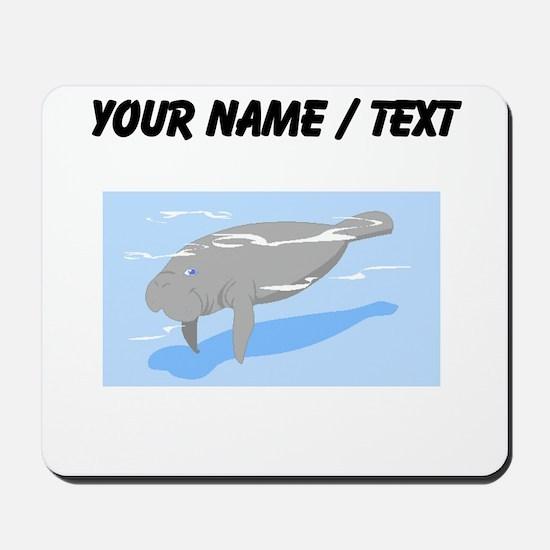 Custom Grey Manatee Mousepad