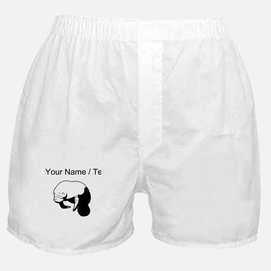 Custom Manatee Boxer Shorts