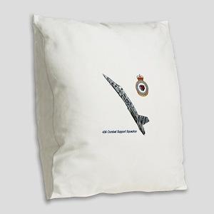 3-439css Burlap Throw Pillow