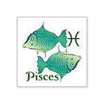 Zodiac Sign Pisces Symbol Square Sticker 3