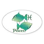 Zodiac Sign Pisces Symbol Sticker (Oval 10 pk)