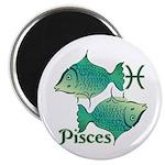 Zodiac Sign Pisces Symbol Magnet