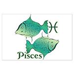 Zodiac Sign Pisces Symbol Large Poster