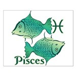 Zodiac Sign Pisces Symbol Small Poster