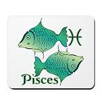 Zodiac Sign Pisces Symbol Mousepad