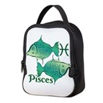 Zodiac Sign Pisces Symbol Neoprene Lunch Bag