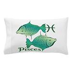 Zodiac Sign Pisces Symbol Pillow Case