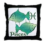 Zodiac Sign Pisces Symbol Throw Pillow