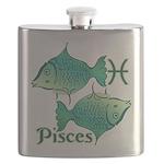 Zodiac Sign Pisces Symbol Flask