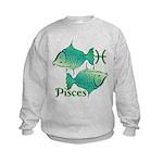 Zodiac Sign Pisces Symbol Kids Sweatshirt