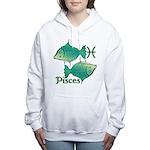 Zodiac Sign Pisces Symbo Women's Hooded Sweatshirt
