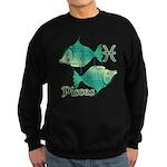 Zodiac Sign Pisces Symbol Sweatshirt (dark)