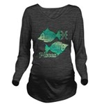 Zodiac Sign Pisces S Long Sleeve Maternity T-Shirt