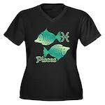 Zodiac Sign Women's Plus Size V-Neck Dark T-Shirt