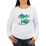 Zodiac Sign Pisces Sym Women's Long Sleeve T-Shirt