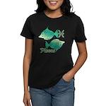 Zodiac Sign Pisces Symbol Women's Dark T-Shirt