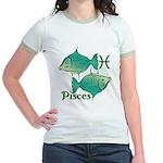 Zodiac Sign Pisces Symbol Jr. Ringer T-Shirt