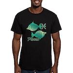 Zodiac Sign Pisces Sym Men's Fitted T-Shirt (dark)