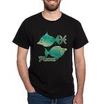 Zodiac Sign Pisces Symbol Dark T-Shirt