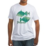 Zodiac Sign Pisces Symbol Fitted T-Shirt