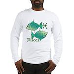 Zodiac Sign Pisces Symbol Long Sleeve T-Shirt