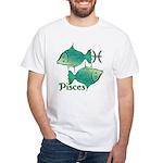 Zodiac Sign Pisces Symbol White T-Shirt