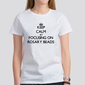 Keep Calm by focusing on Rosary Beads T-Shirt