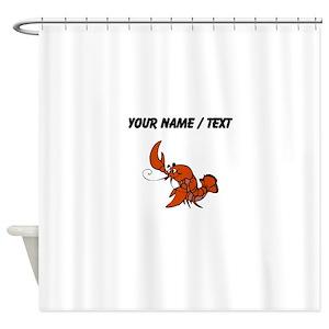 Lobster Cartoon Shower Curtains