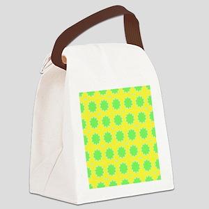 Lemon Lime Art Pattern Canvas Lunch Bag
