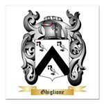 Ghiglione Square Car Magnet 3
