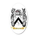 Ghiglino 35x21 Oval Wall Decal