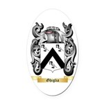 Ghiglia Oval Car Magnet