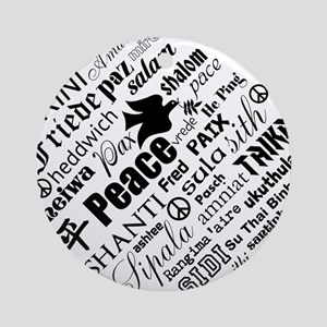 PEACE in different languages Ornament (Round)