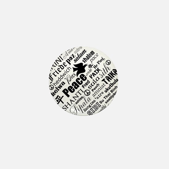 PEACE in different languages Mini Button