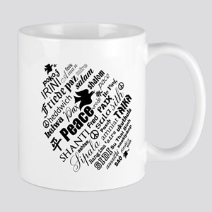 PEACE in different languages Mugs