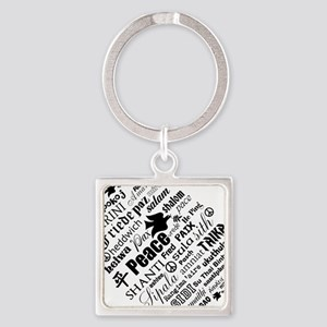 PEACE in different languages Keychains