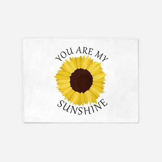 You Are My Sunshine 5'x7'Area Rug