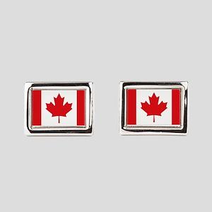 Canada National Flag Rectangular Cufflinks