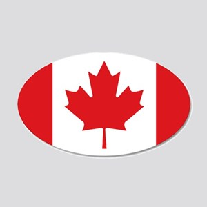 Canada National Flag 20x12 Oval Wall Decal