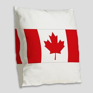 Canada National Flag Burlap Throw Pillow