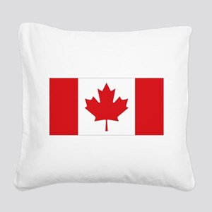 Canada National Flag Square Canvas Pillow