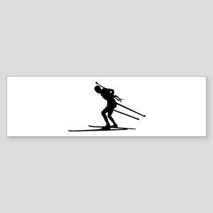 Biathlon skiing Sticker (Bumper)
