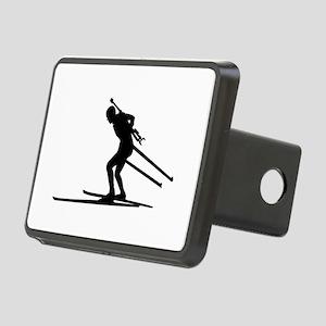 Biathlon skiing Rectangular Hitch Cover