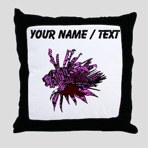 Custom Purple Lionfish Throw Pillow