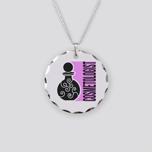 Cosmetologist Makeup Artist Necklace Circle Charm