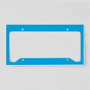 Azure Blue Solid Color License Plate Holder