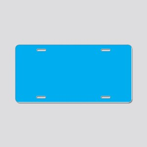 Azure Blue Solid Color Aluminum License Plate