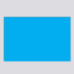 Azure Blue Solid Color Postcards (Package of 8)