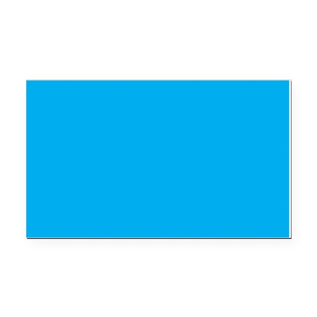 Azure Blue Solid Color Rectangle Car Magnet By Beautifulbed