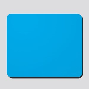 Azure Blue Solid Color Mousepad